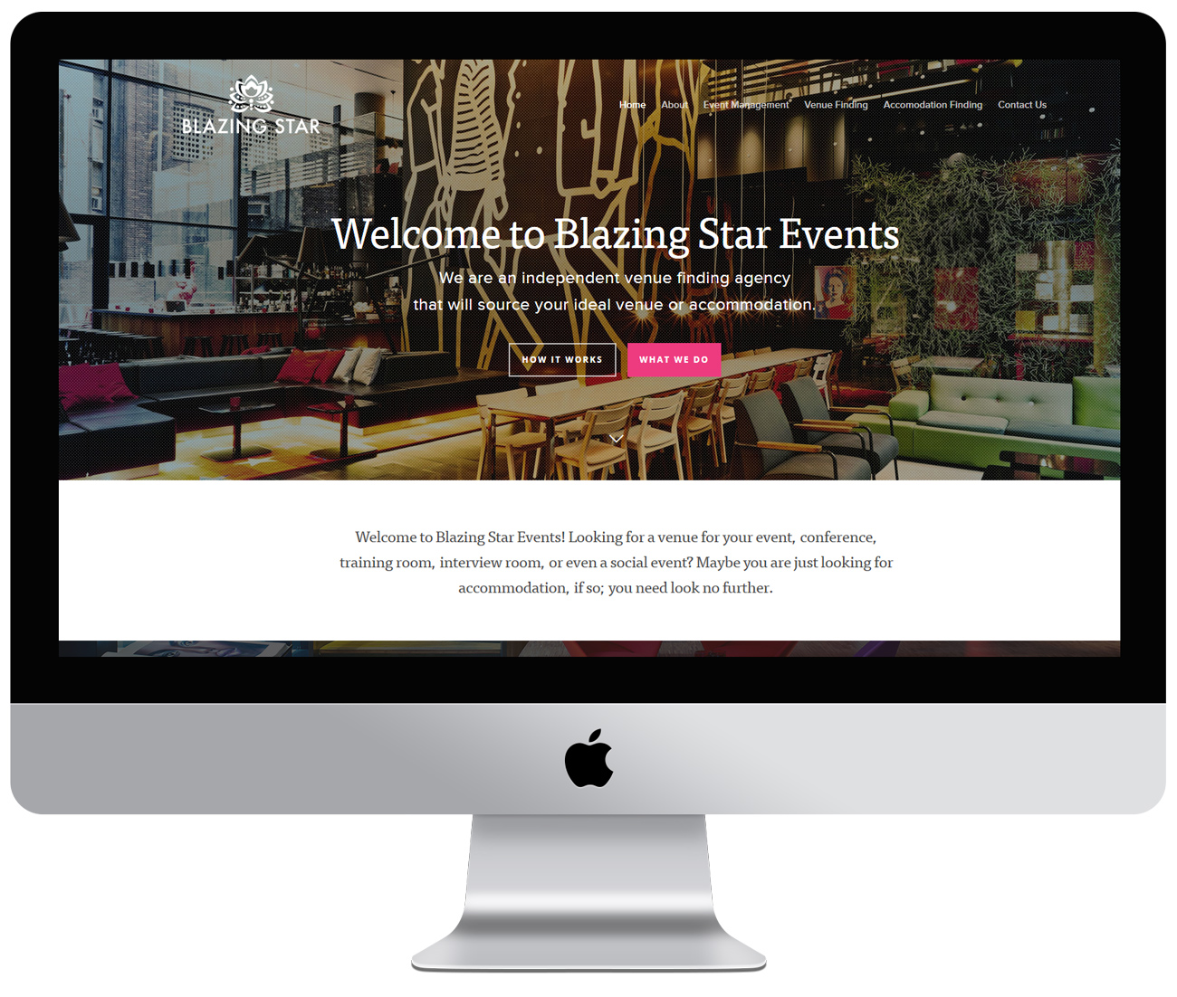 Blazing Star Events website