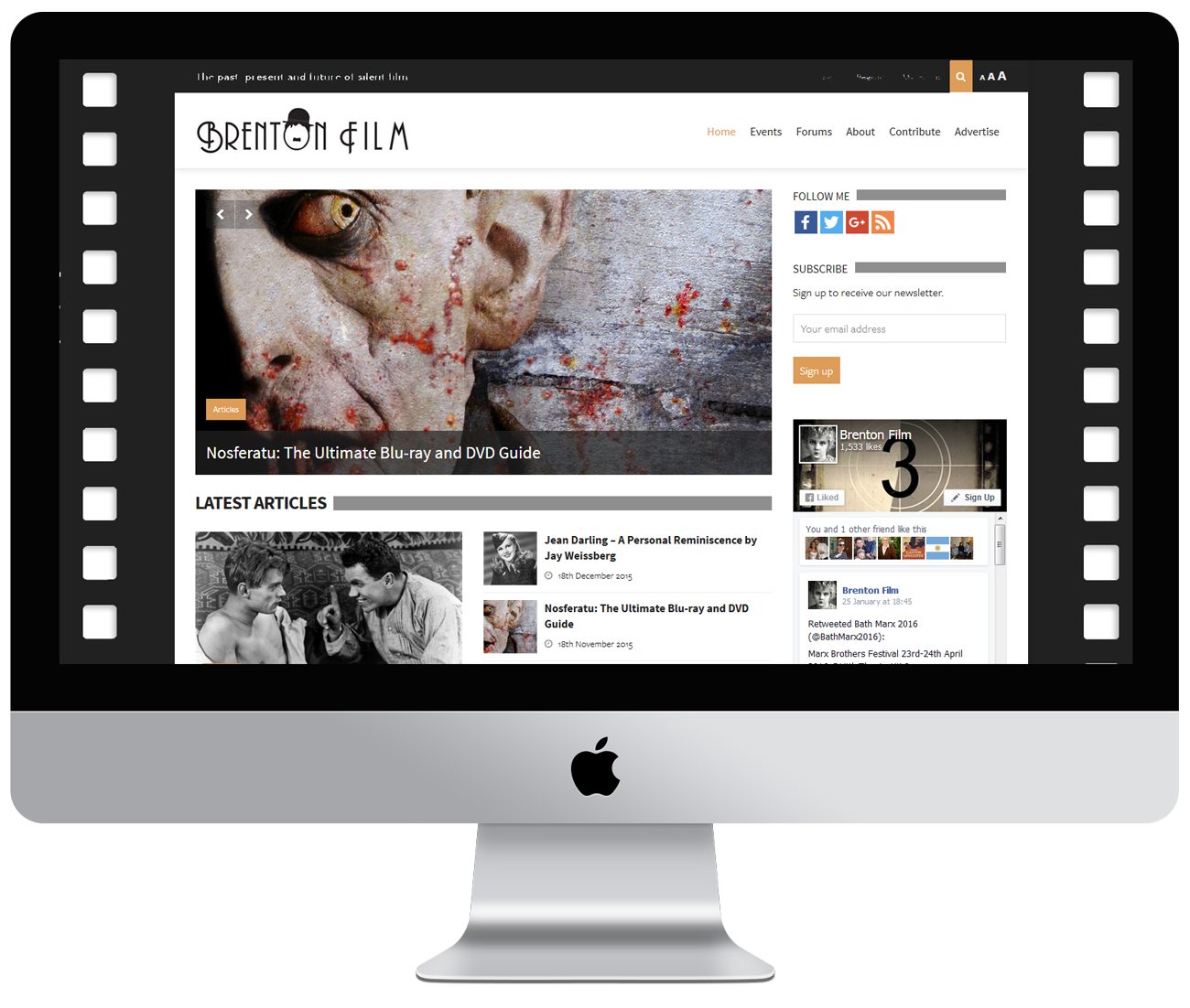 Brenton Film website development