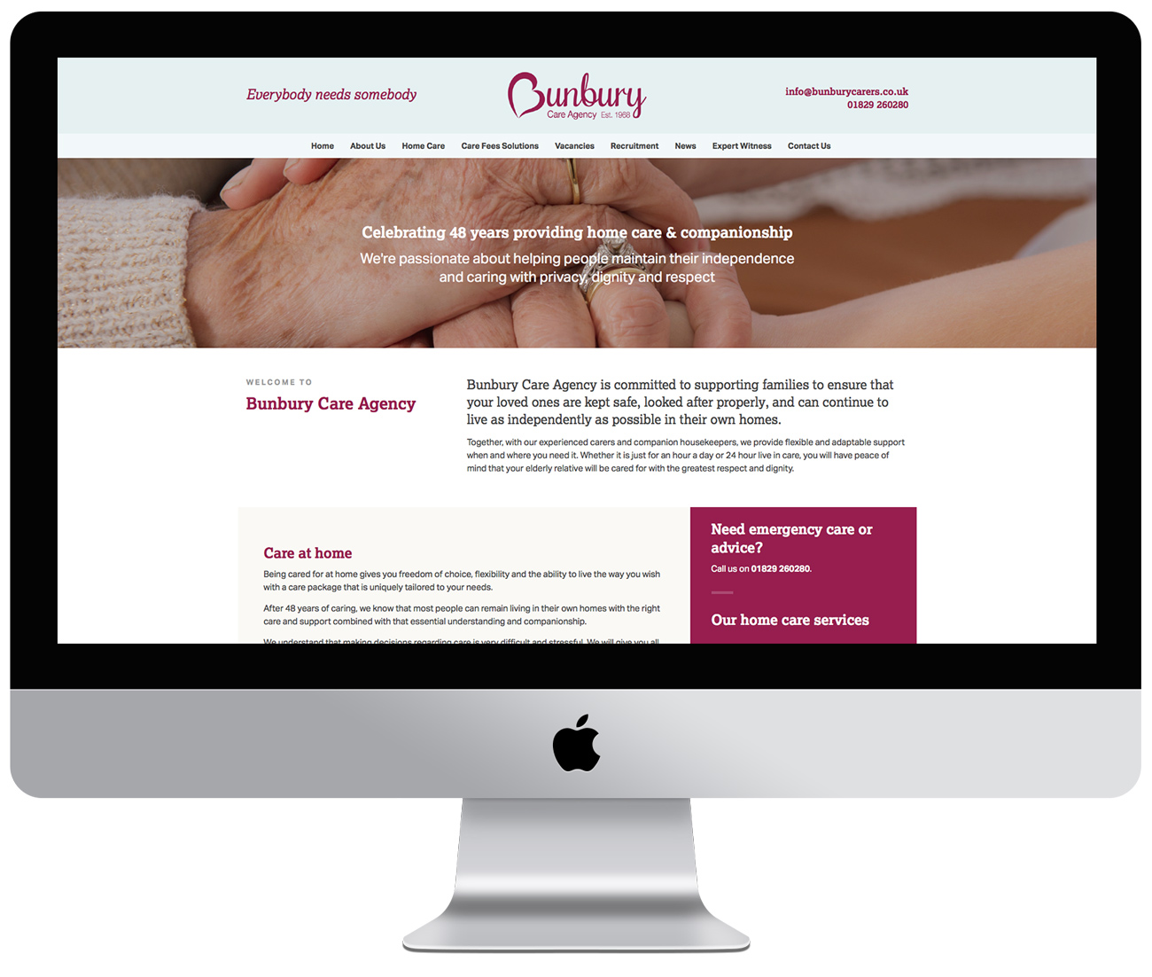 Bunbury Care Agency website