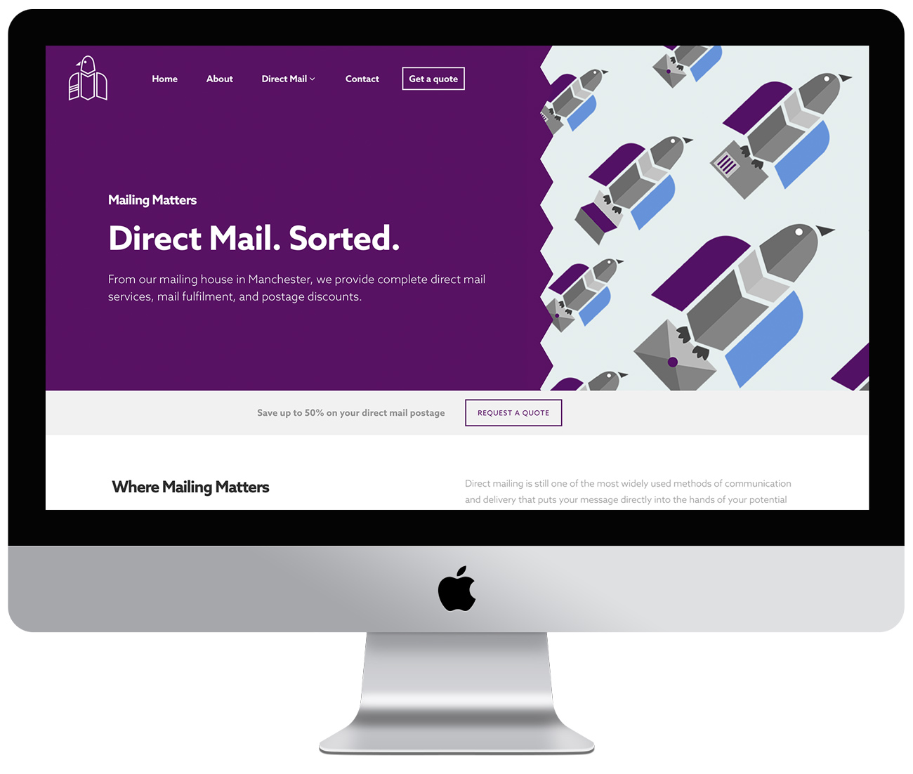 Mailing Matters' website development