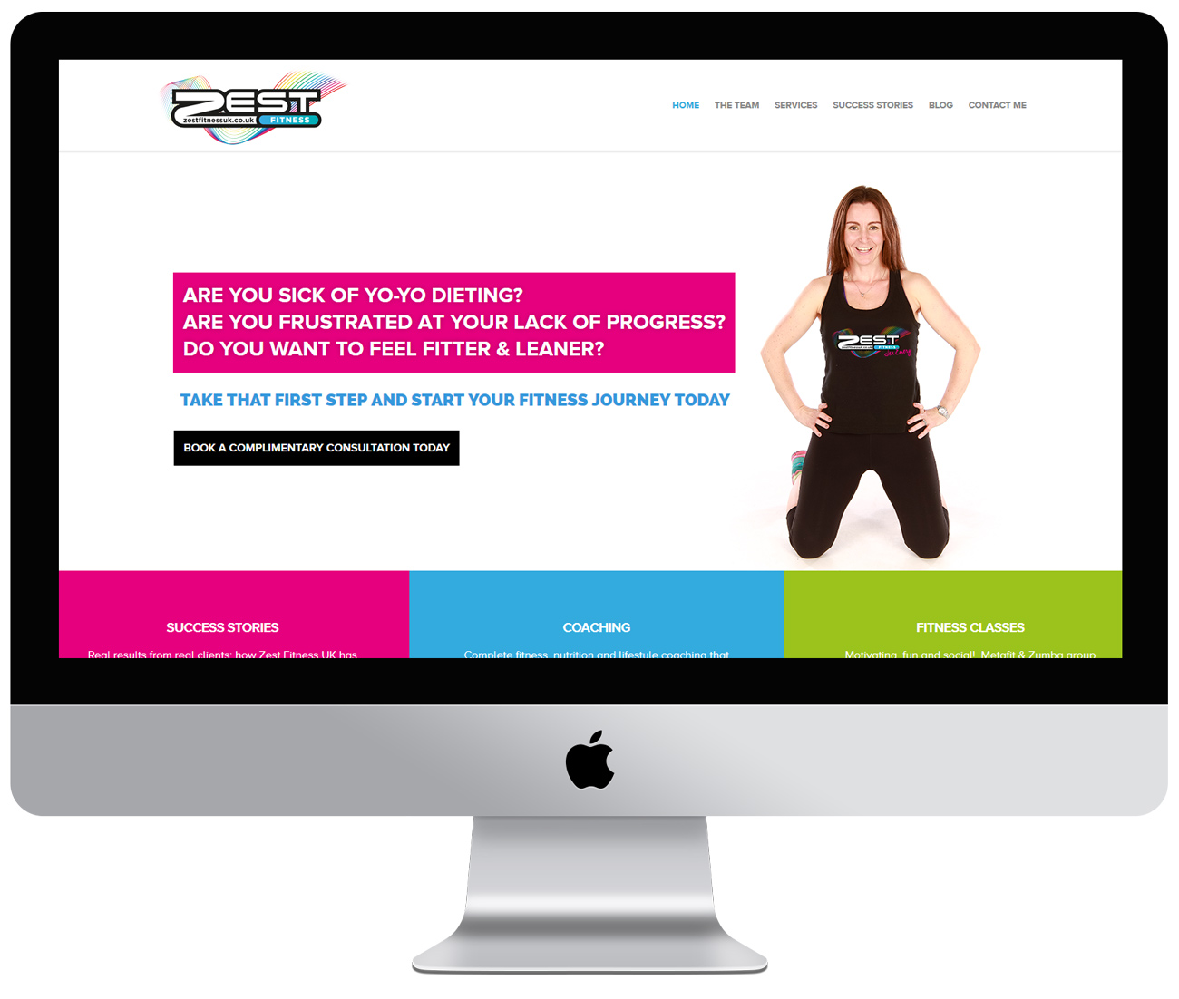 Zest Fitness UK website