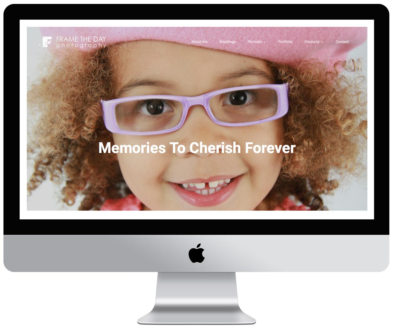 Photography portfolio website development