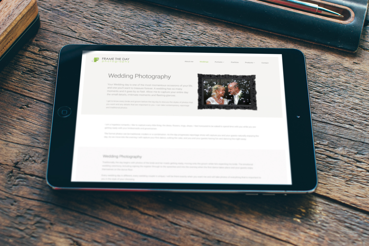 Responsive photography website (iPad)